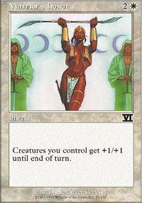 Warrior's Honor Magic Card