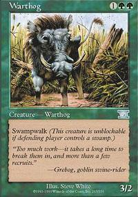 Warthog Magic Card