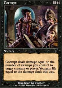 Corrupt Magic Card
