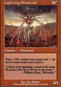 Lightning Elemental Magic Card