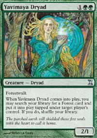 Yavimaya Dryad Magic Card
