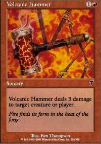 Volcanic Hammer Magic Card