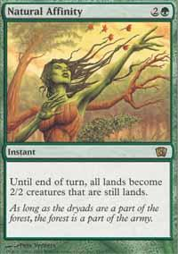 Natural Affinity Magic Card
