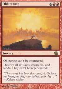 Obliterate Magic Card