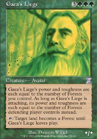 Gaea's Liege Magic Card