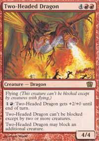 Two-Headed Dragon Magic Card