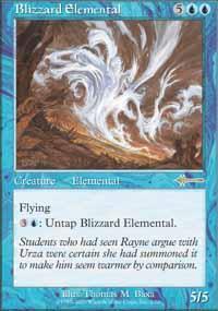 Blizzard Elemental Magic Card