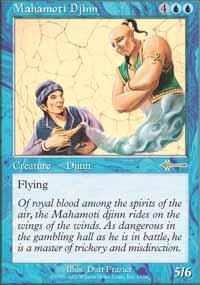 Mahamoti Djinn Magic Card