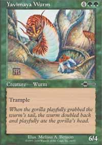 Yavimaya Wurm Magic Card