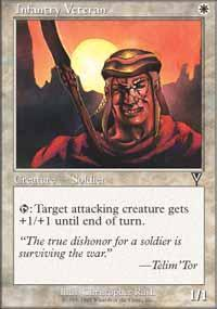 Infantry Veteran Magic Card