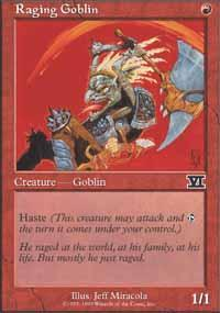 Raging Goblin Magic Card