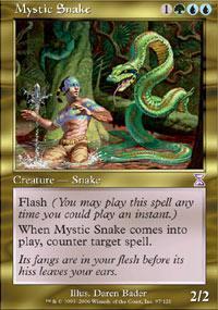 Mystic Snake Magic Card