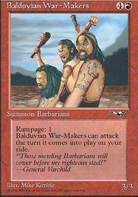 Balduvian War-Makers Magic Card