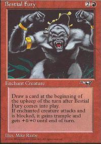 Bestial Fury Magic Card