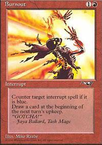 Burnout Magic Card