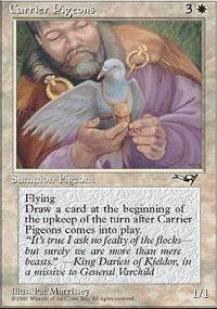 Carrier Pigeons Magic Card