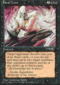 Fatal Lore Magic Card