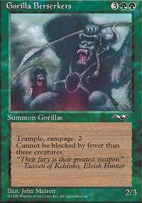 Gorilla Berserkers Magic Card