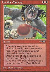 Gorilla War Cry Magic Card