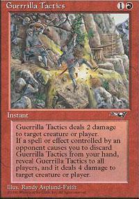 Guerrilla Tactics Magic Card