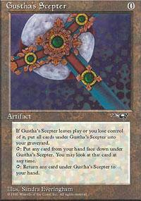 Gustha's Scepter Magic Card