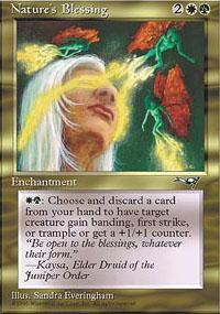 Nature's Blessing Magic Card