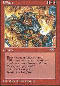 Pillage Magic Card