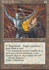 Soldevi Sentry Magic Card