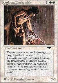 Argivian Blacksmith Magic Card