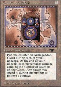 Armageddon Clock Magic Card