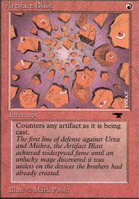 Artifact Blast Magic Card