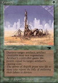Crumble Magic Card