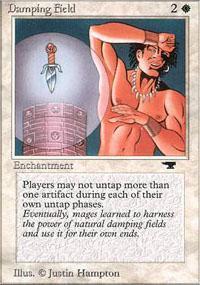 Damping Field Magic Card