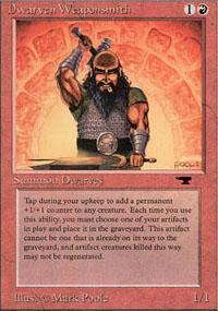 Dwarven Weaponsmith Magic Card
