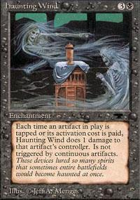 Haunting Wind Magic Card