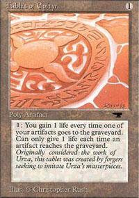 Tablet of Epityr Magic Card