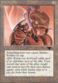 Yotian Soldier Magic Card