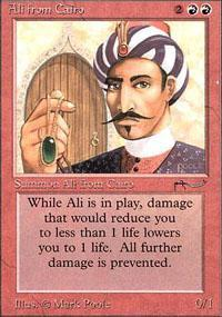 Ali from Cairo Magic Card