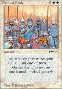 Army of Allah Magic Card