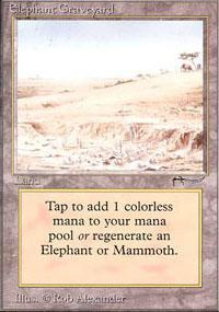 Elephant Graveyard Magic Card