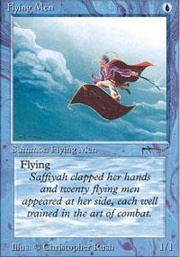 Flying Men Magic Card