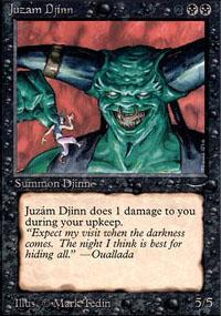 Juzam Djinn Magic Card