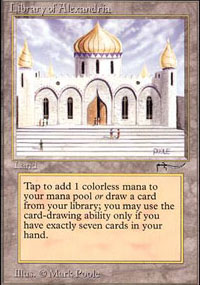 Library of Alexandria Magic Card