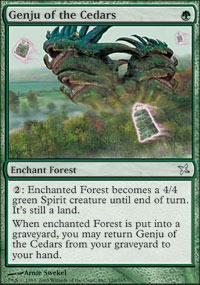 Genju of the Cedars Magic Card