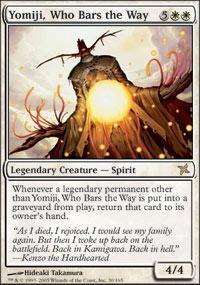 Yomiji, Who Bars the Way Magic Card