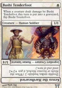 Bushi Tenderfoot // Kenzo the Hardhearted Magic Card