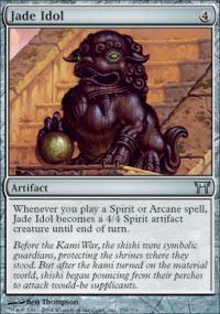 Jade Idol Magic Card