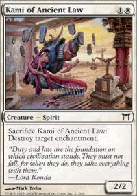 Kami of Ancient Law Magic Card