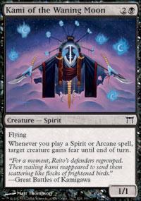Kami of the Waning Moon Magic Card
