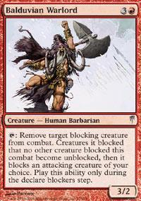 Balduvian Warlord Magic Card